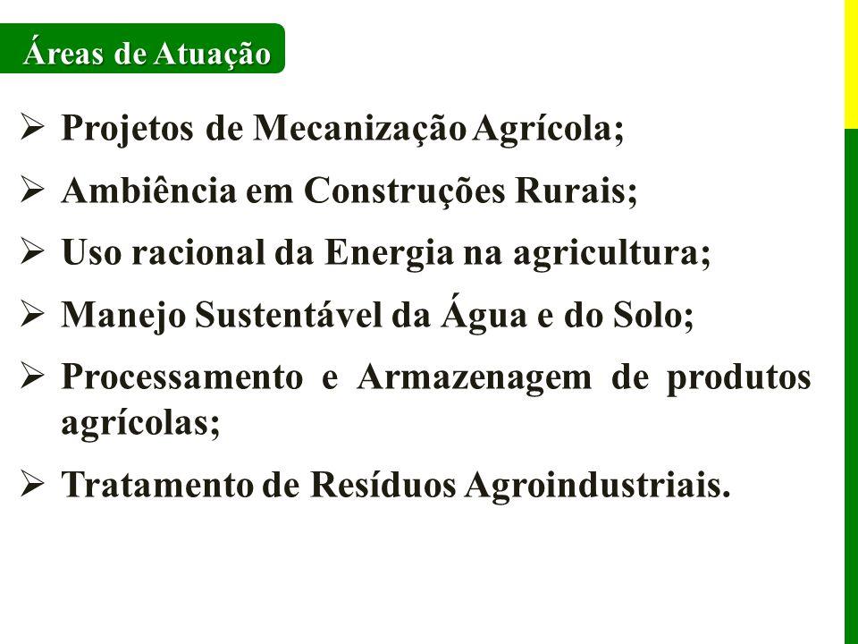 Projetos de Mecanização Agrícola; Ambiência em Construções Rurais;