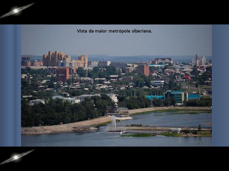 Vista da maior metrópole siberiana.