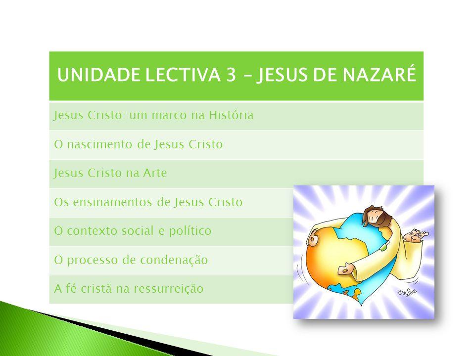 UNIDADE LECTIVA 3 – JESUS DE NAZARÉ