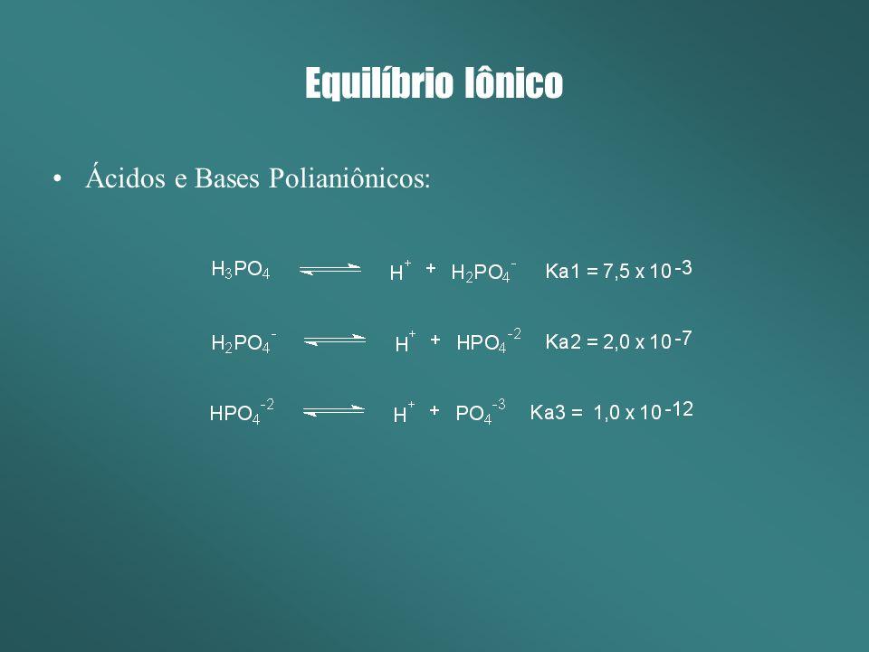 Equilíbrio Iônico Ácidos e Bases Polianiônicos: