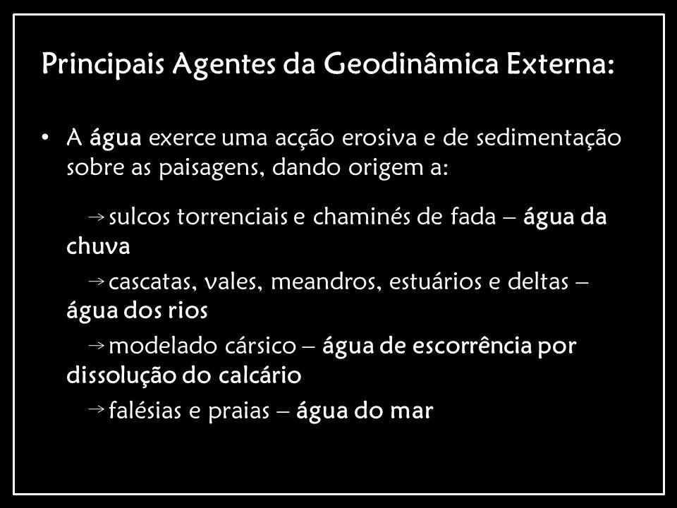 Principais Agentes da Geodinâmica Externa: