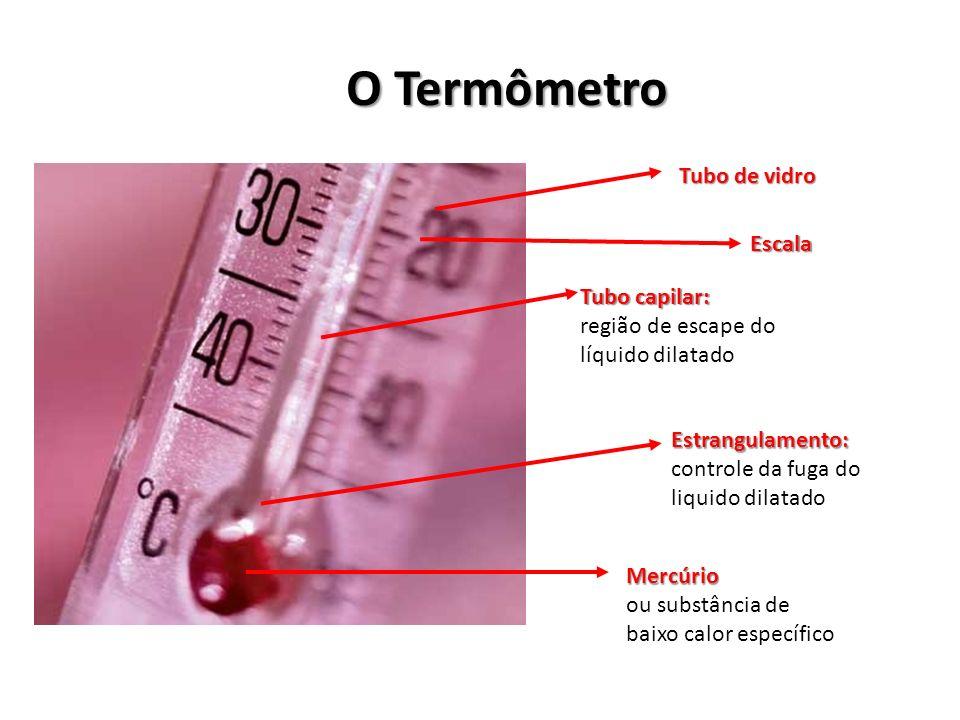 O Termômetro Tubo de vidro Escala Tubo capilar: