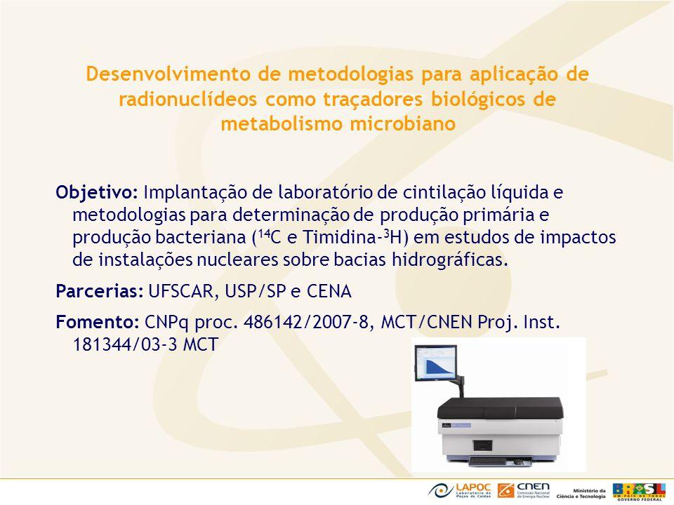 Desenvolvimento de metodologias para aplicação de radionuclídeos como traçadores biológicos de metabolismo microbiano