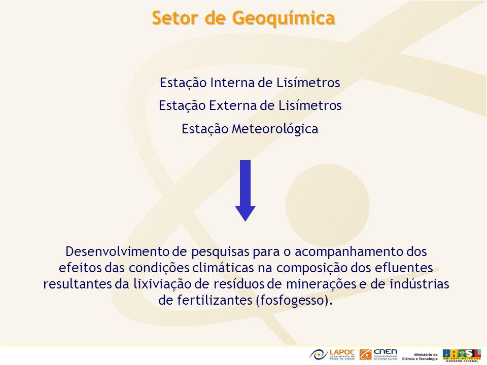 Setor de Geoquímica Estação Interna de Lisímetros