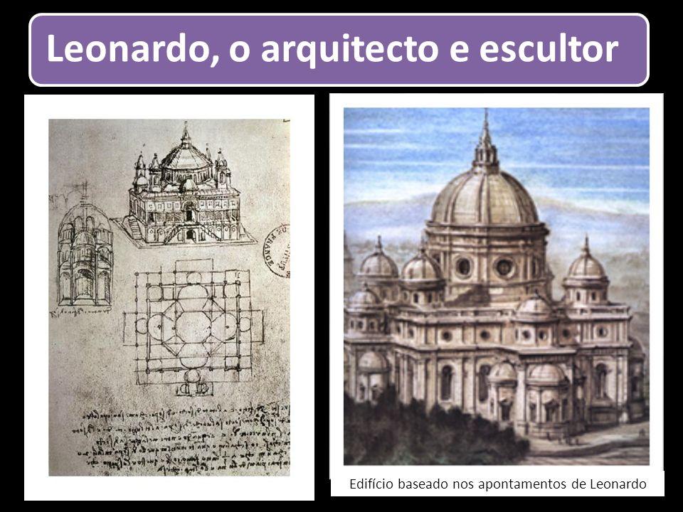 Edifício baseado nos apontamentos de Leonardo