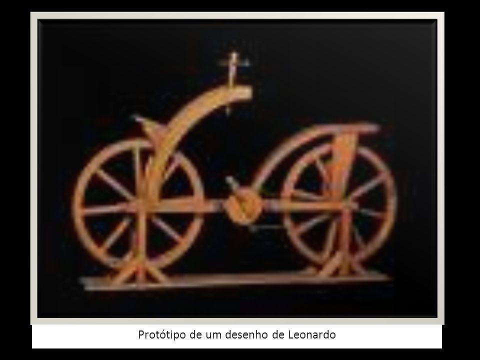 Protótipo de um desenho de Leonardo