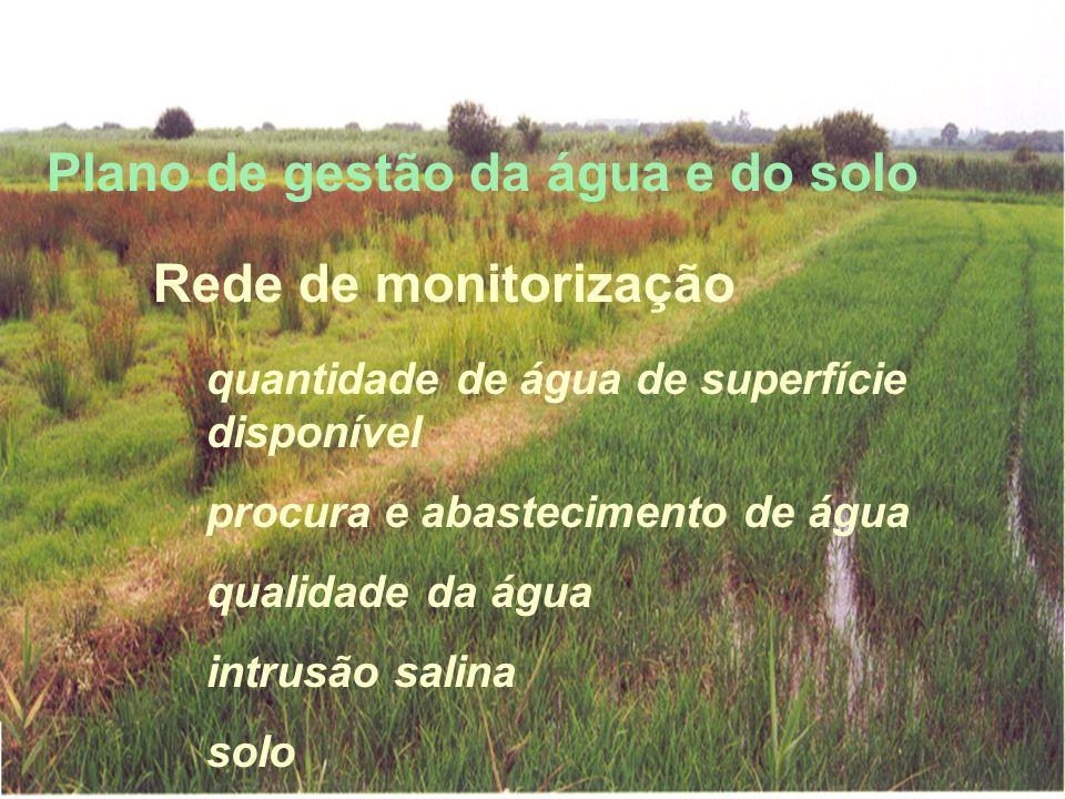 Plano de gestão da água e do solo Rede de monitorização