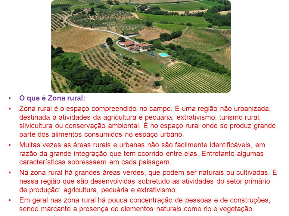 O que é Zona rural: