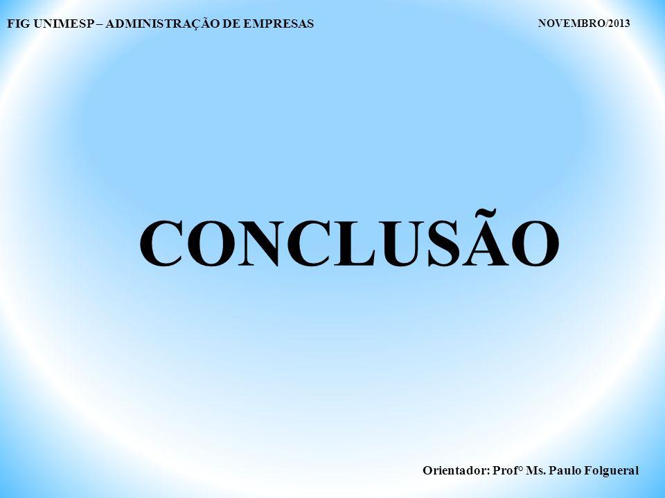 CONCLUSÃO FIG UNIMESP – ADMINISTRAÇÃO DE EMPRESAS