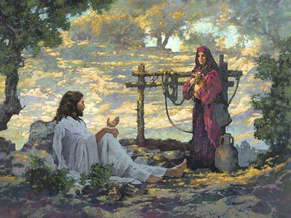 A samaritana, depois de encontrar o salvador do mundo que traz a água que mata a sede de felicidade, não se fechou em casa a gozar a sua descoberta; mas partiu para a cidade, a propor aos seus concidadãos a verdade que tinha encontrado.