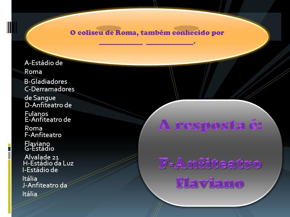 F-Anfiteatro flaviano