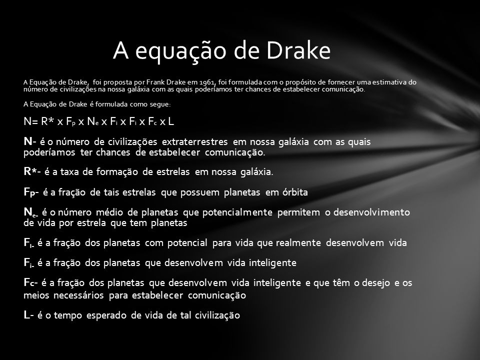 A equação de Drake