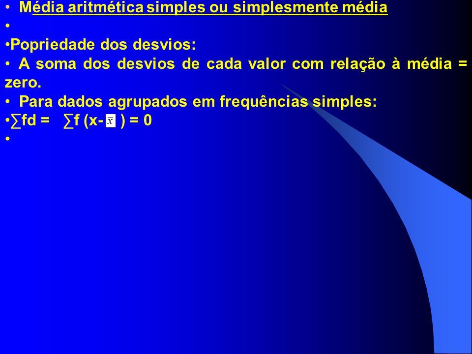 Média aritmética simples ou simplesmente média