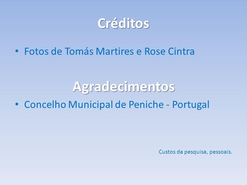 Créditos Agradecimentos Fotos de Tomás Martires e Rose Cintra