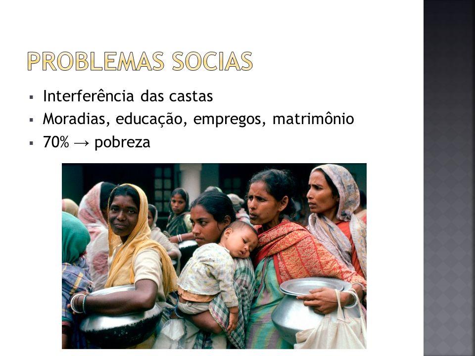 PROBLEMAS SOCIAS Interferência das castas