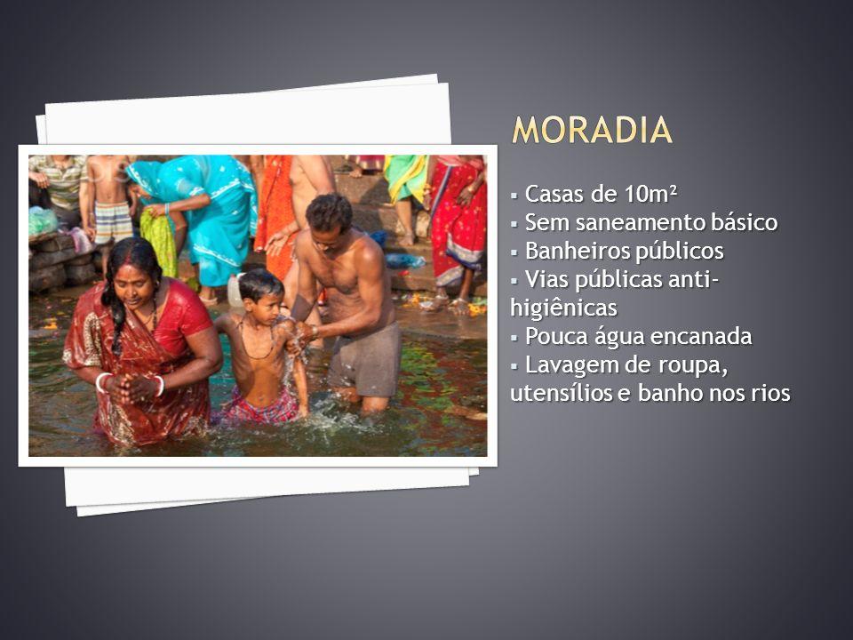 MORADIA Casas de 10m² Sem saneamento básico Banheiros públicos