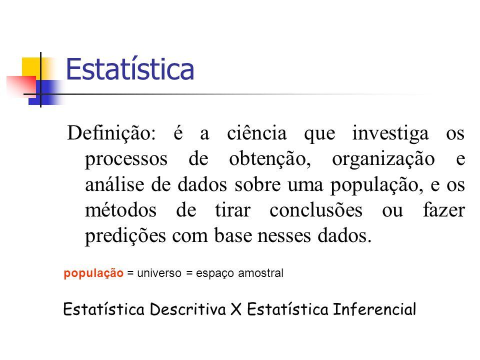 Estatística Descritiva X Estatística Inferencial