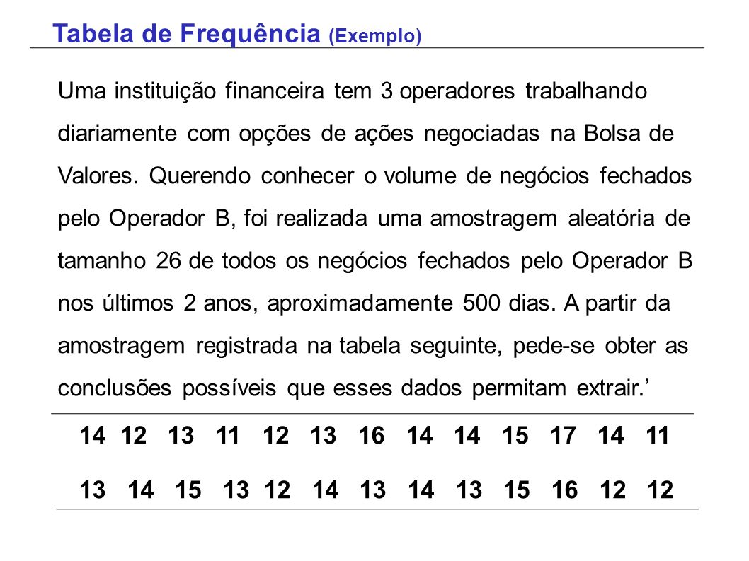 Tabela de Frequência (Exemplo)