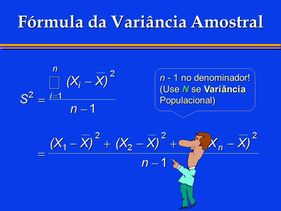 Fórmula da Variância Amostral