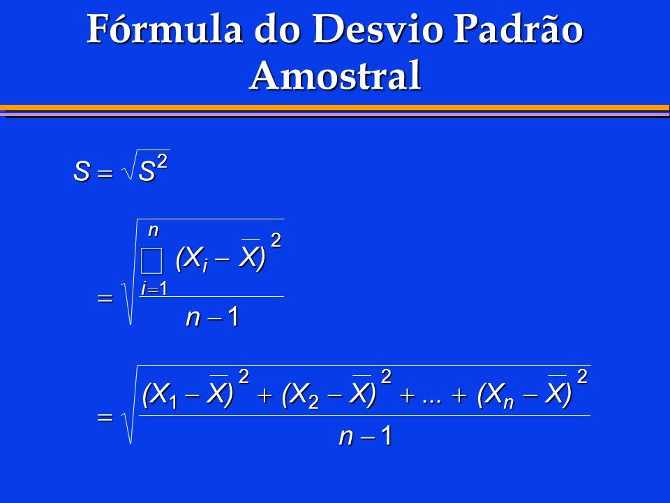 Fórmula do Desvio Padrão Amostral