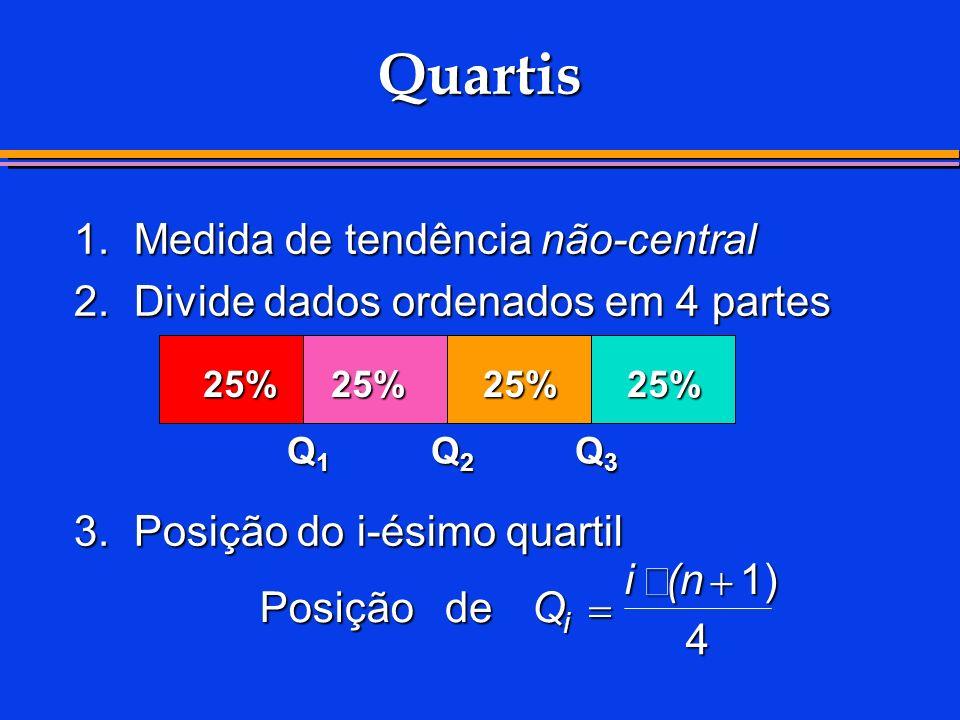 Quartis 1. Medida de tendência não-central