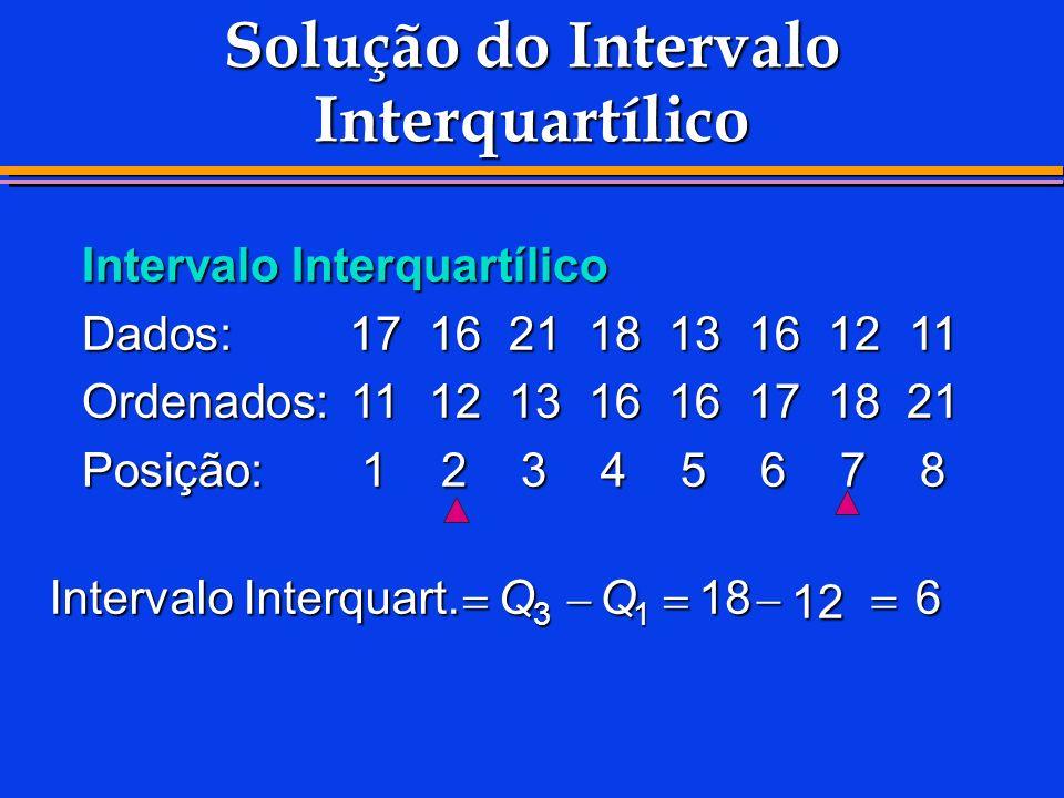 Solução do Intervalo Interquartílico