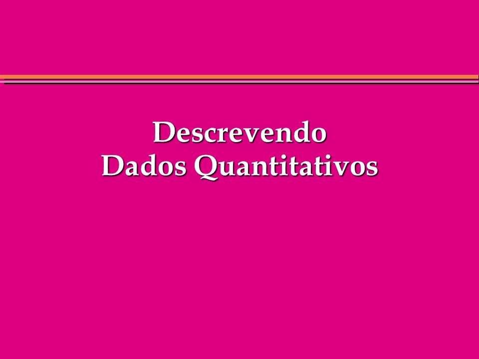 Descrevendo Dados Quantitativos