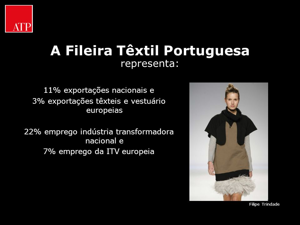 A Fileira Têxtil Portuguesa representa:
