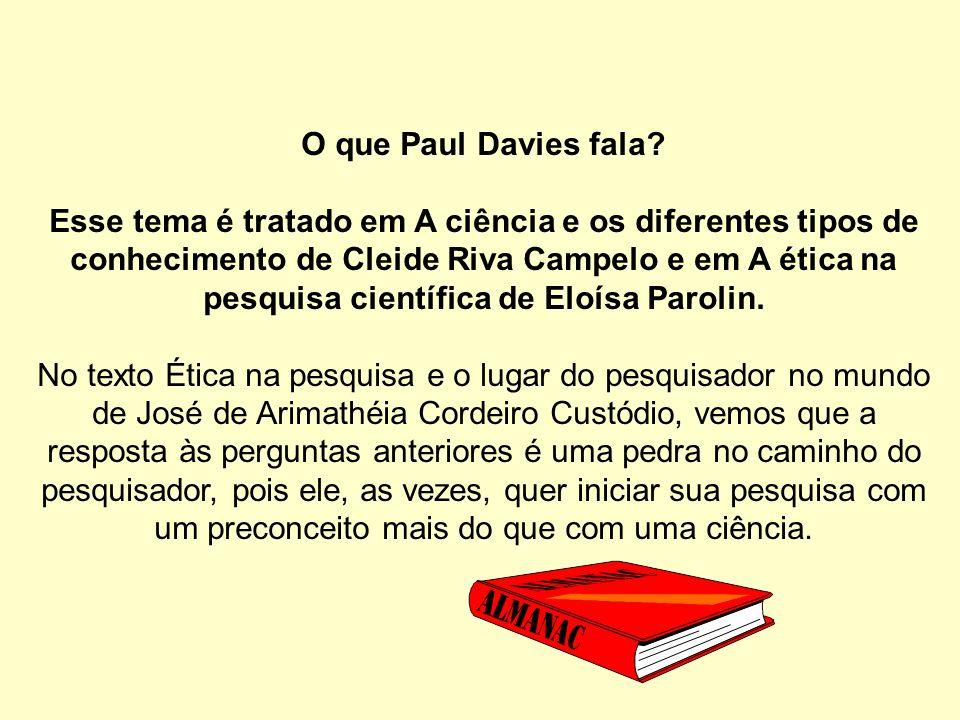 O que Paul Davies fala