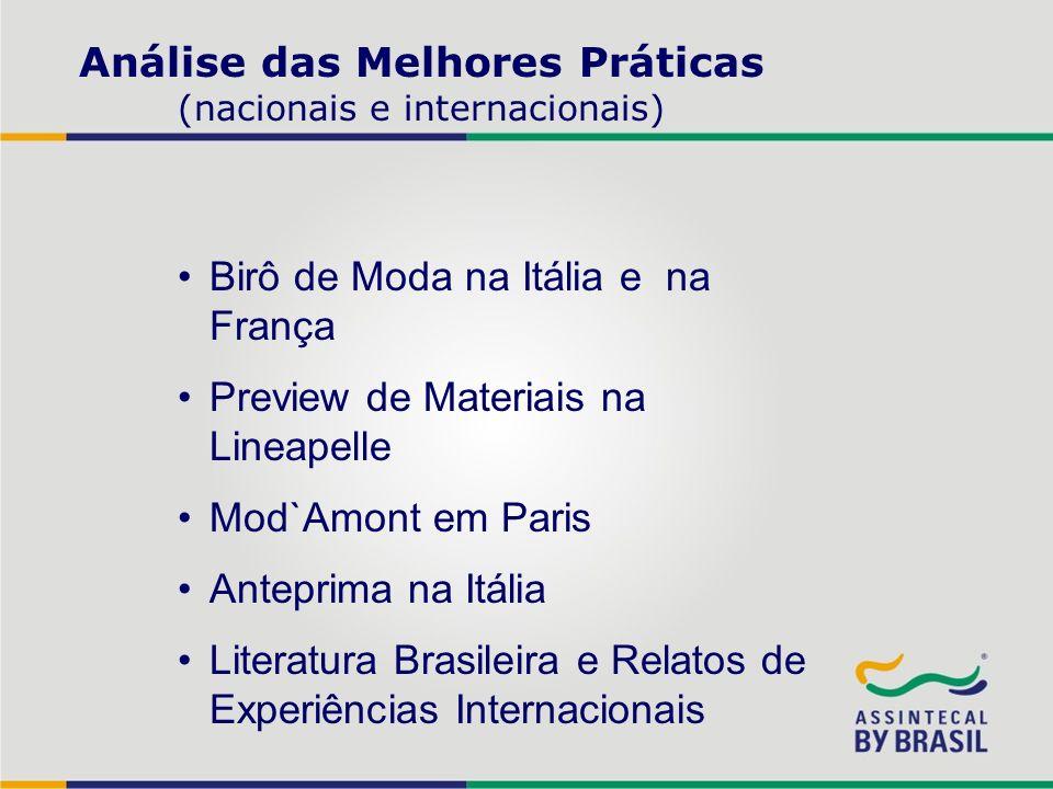 Análise das Melhores Práticas (nacionais e internacionais)