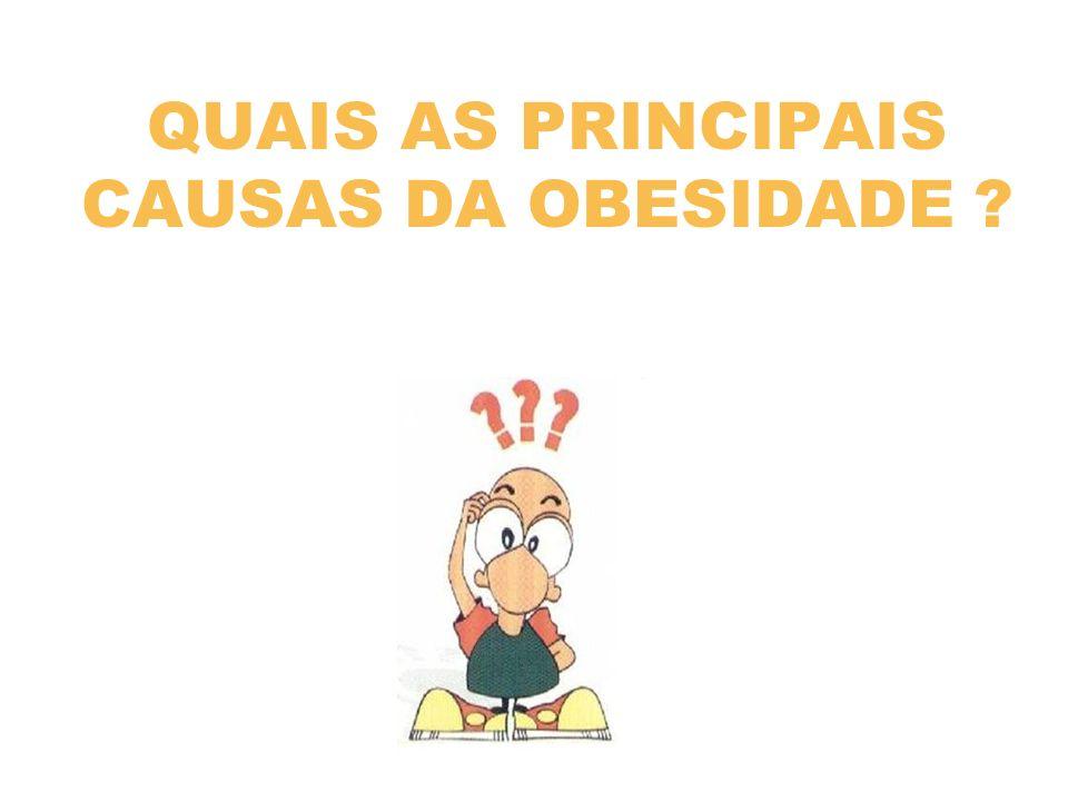 QUAIS AS PRINCIPAIS CAUSAS DA OBESIDADE