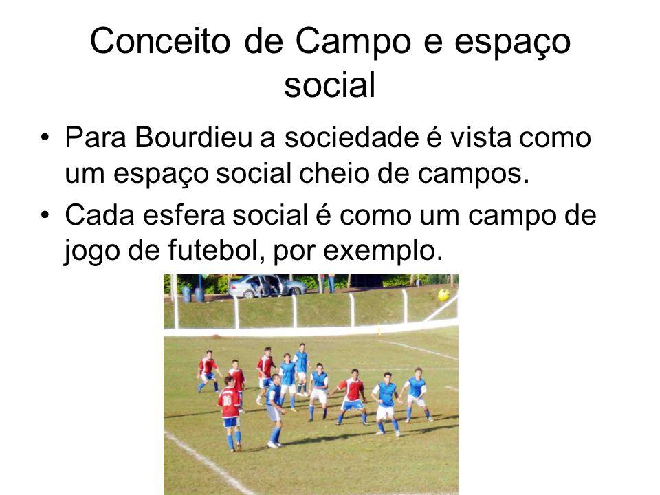 Conceito de Campo e espaço social