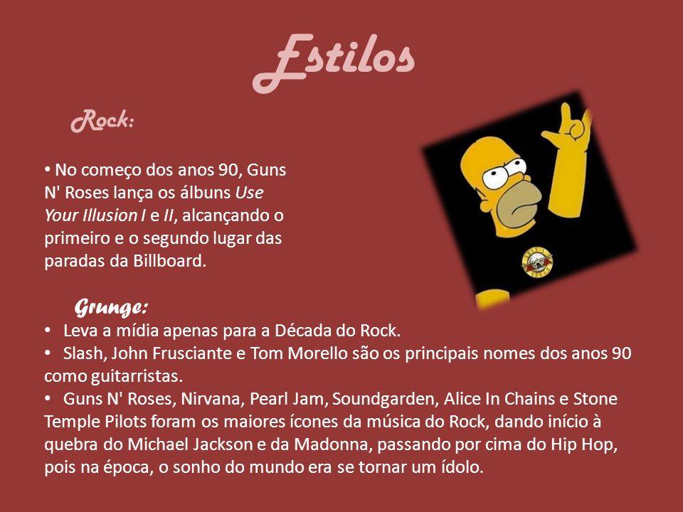 Estilos Rock: