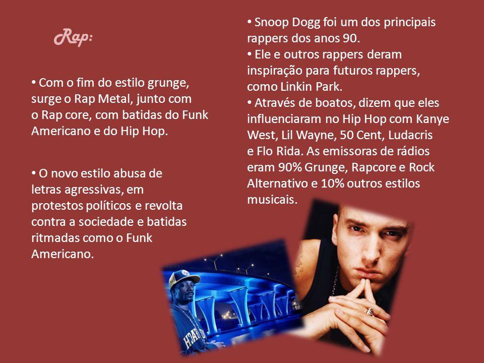 Rap: Snoop Dogg foi um dos principais rappers dos anos 90.