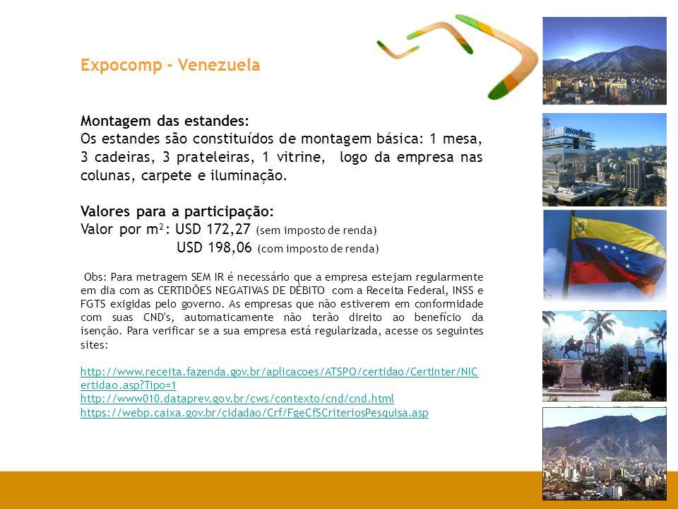 Expocomp - Venezuela Montagem das estandes: