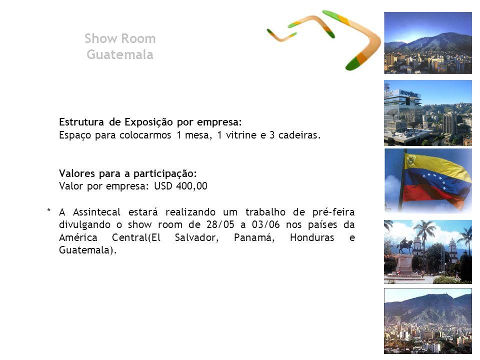 Show Room Guatemala Estrutura de Exposição por empresa: