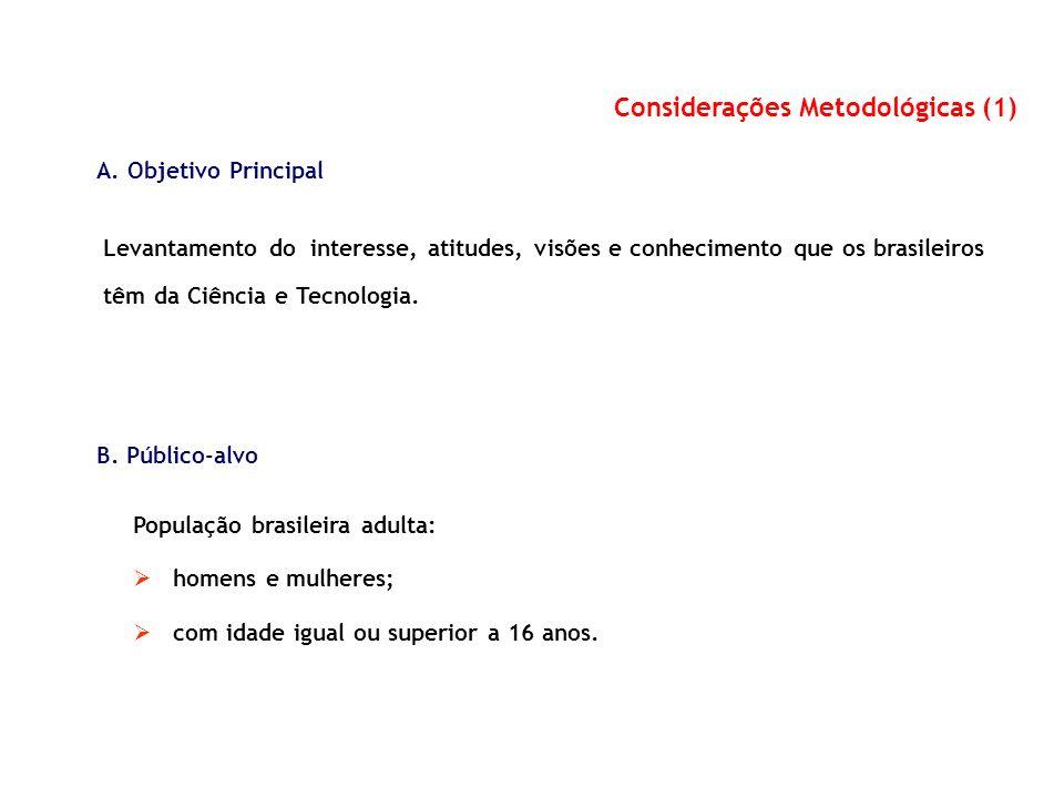 Considerações Metodológicas (1)