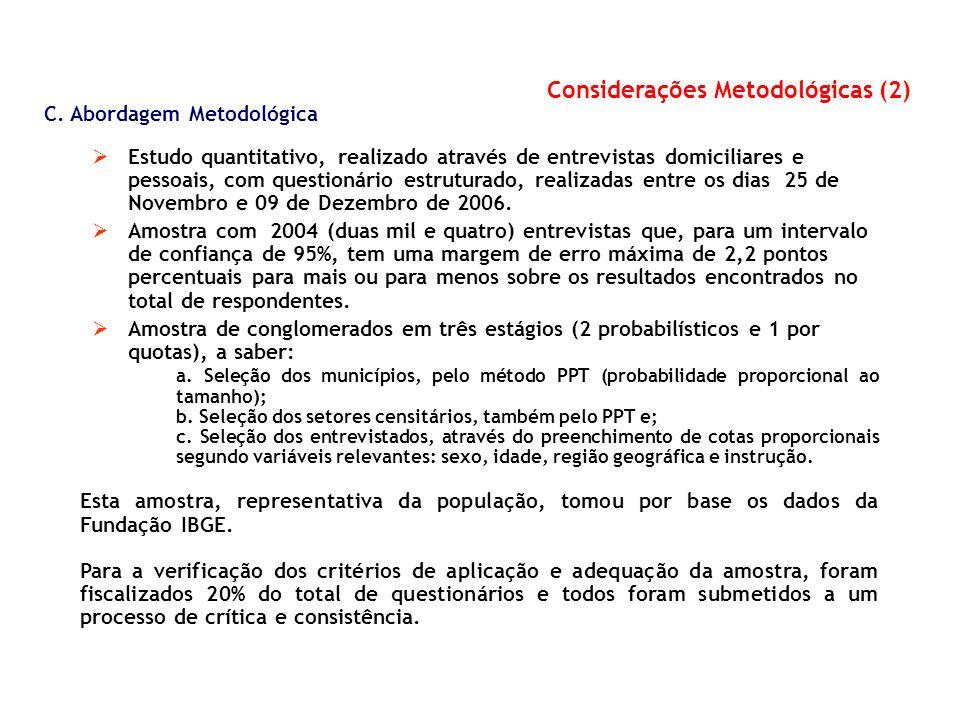 Considerações Metodológicas (2)