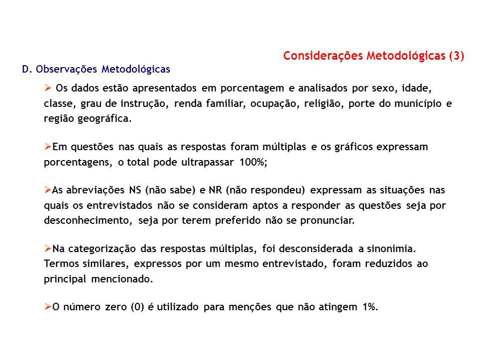 Considerações Metodológicas (3)