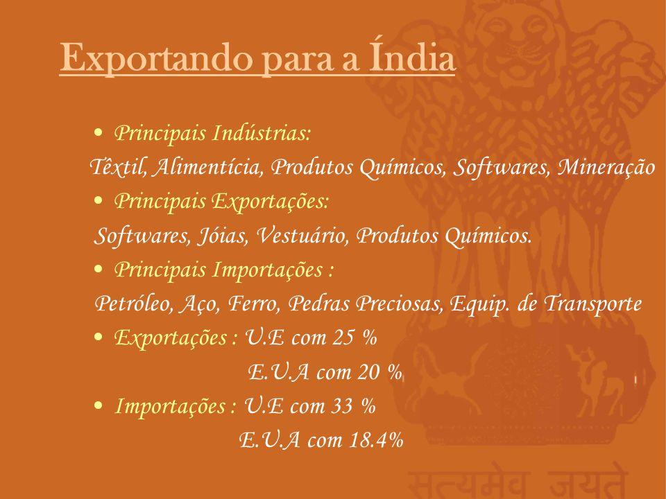 Exportando para a Índia