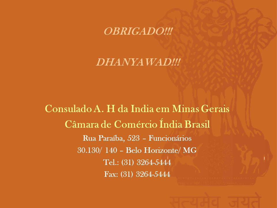 Consulado A. H da India em Minas Gerais
