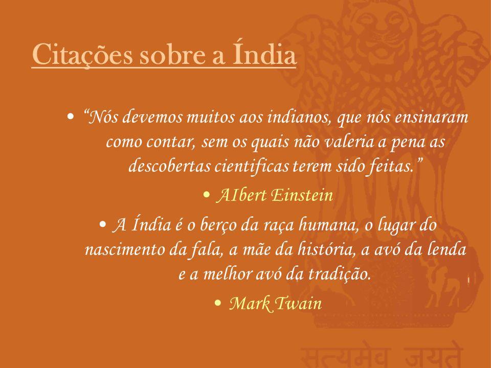 Citações sobre a Índia