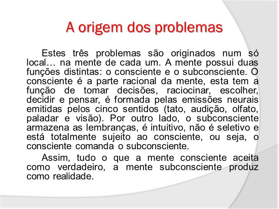 A origem dos problemas
