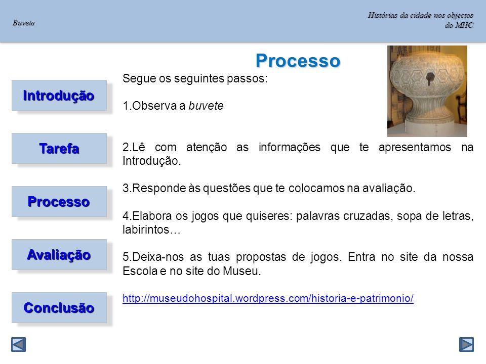 Processo Introdução Tarefa Processo Avaliação Conclusão