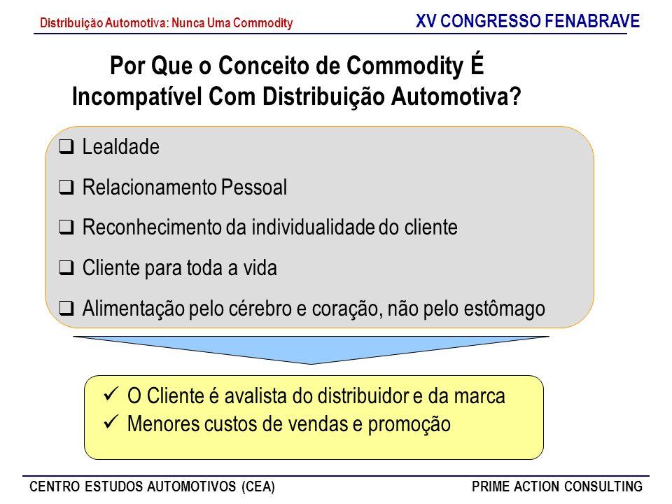 Por Que o Conceito de Commodity É Incompatível Com Distribuição Automotiva