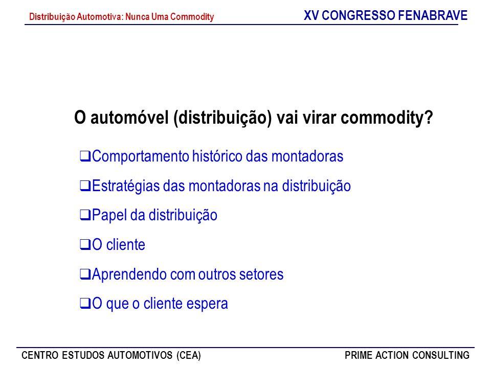 O automóvel (distribuição) vai virar commodity