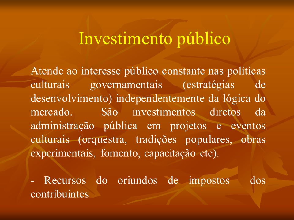 Investimento público