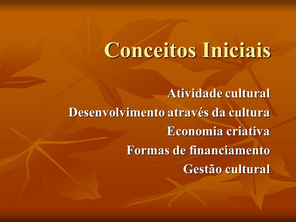 Conceitos Iniciais Atividade cultural