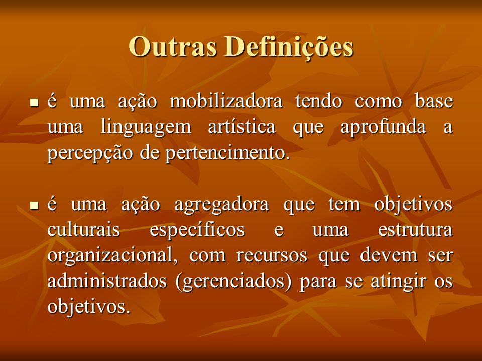 Outras Definições é uma ação mobilizadora tendo como base uma linguagem artística que aprofunda a percepção de pertencimento.