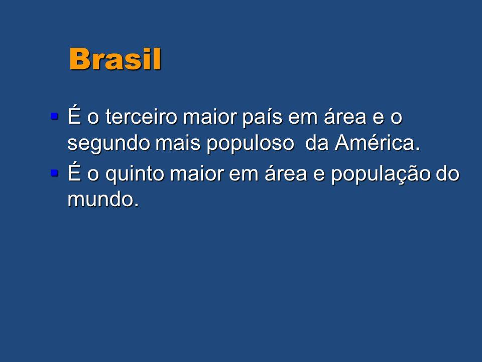 Brasil É o terceiro maior país em área e o segundo mais populoso da América.